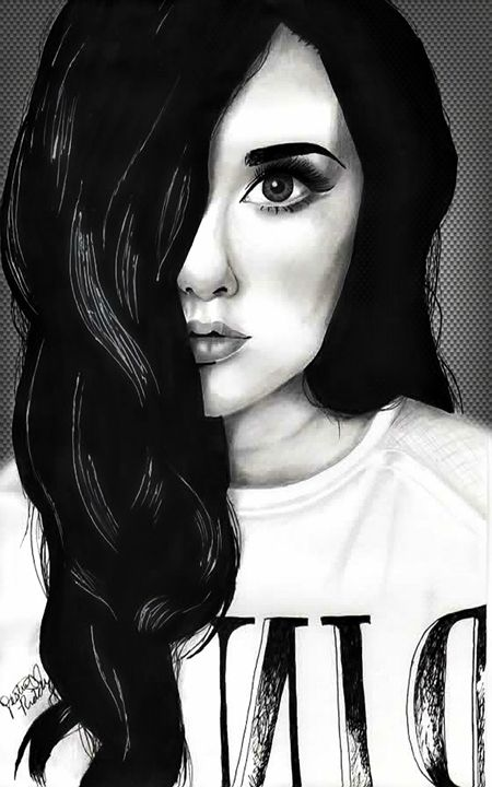 Black and White Beauty - Art by Destiny Riddle