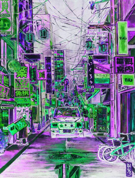 Inverted Japanese street. - Natuz