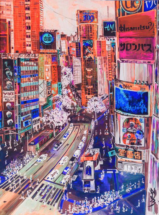 Inverted Shibuya crossing. - Natuz