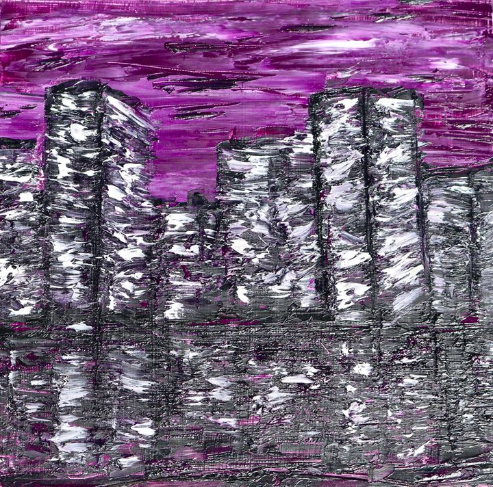 Purple City Scrape - Carlile Art