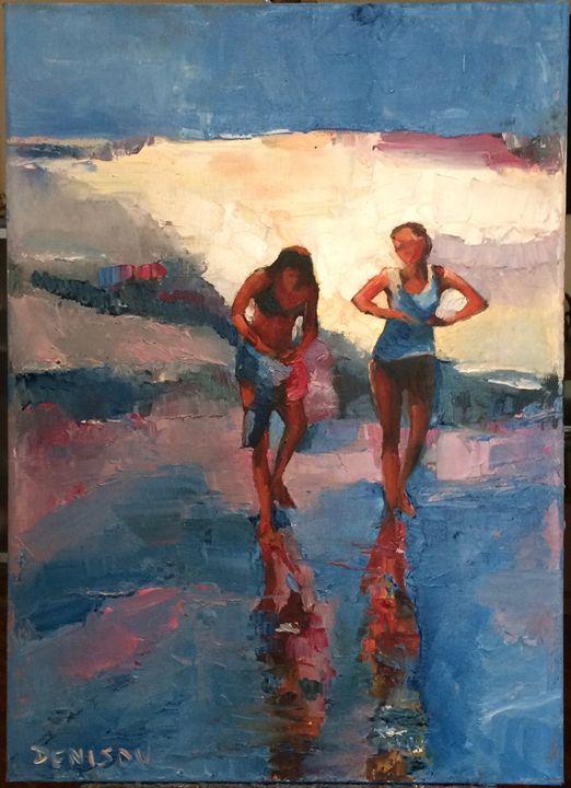 Girls on the Beach - Sergey Denisov