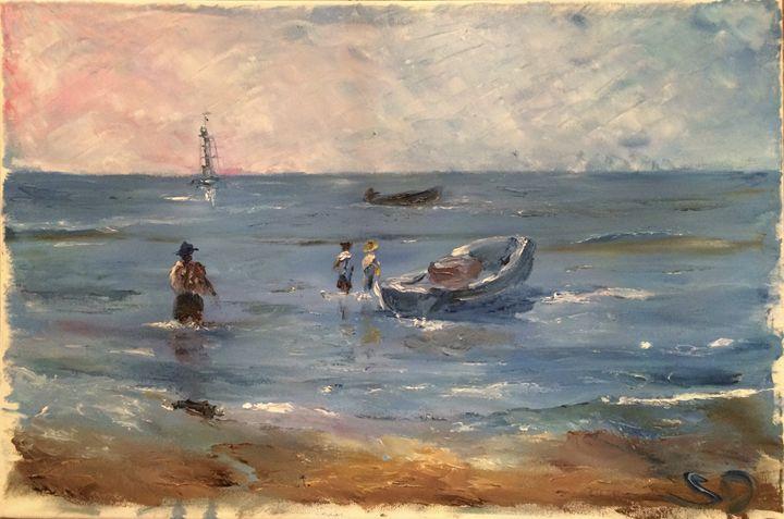 Fishermen in Veracruz - Sergey Denisov