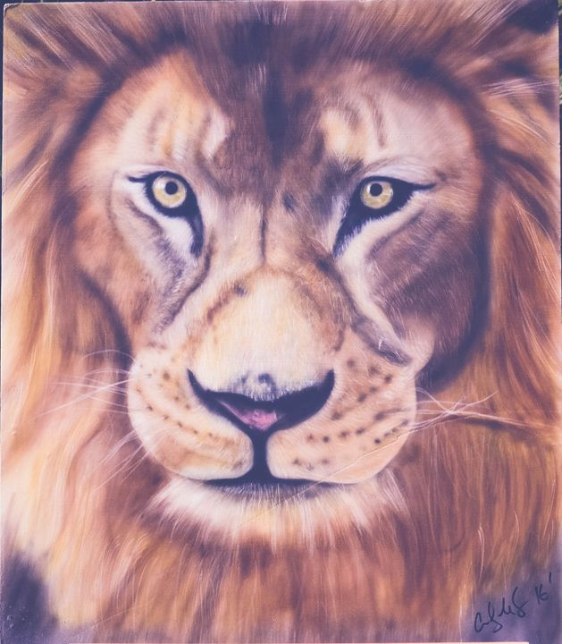 Lion airbrushed art - Cody LeBouef