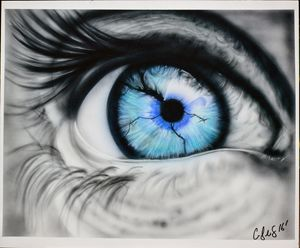 Fine art, eye art