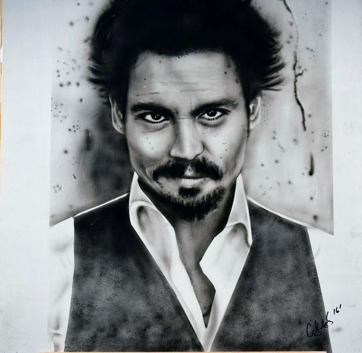 Johnny Depp Photo realism art - Cody LeBouef