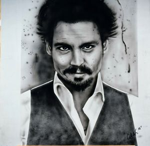 Johnny Depp Photo realism art