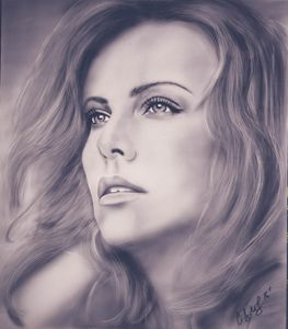 Charlize Theron original painting