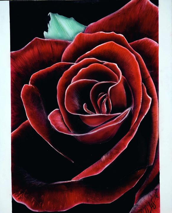 Airbrush rose painting - Cody LeBouef