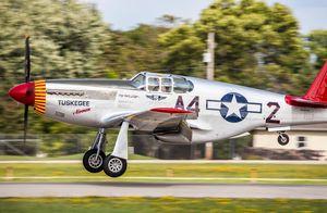 P51 Tuskegee Airmen landing at OSH