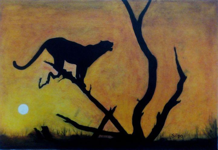 sunset at jungle - Silpa