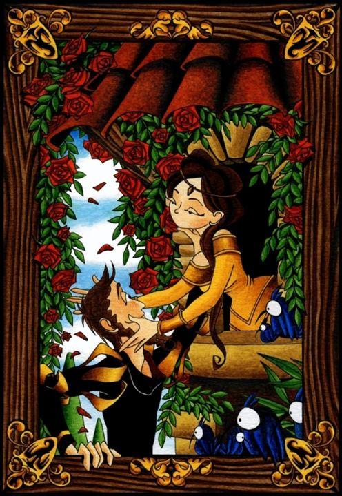 Balcony Scene - Diana Mascarenhas Illustration