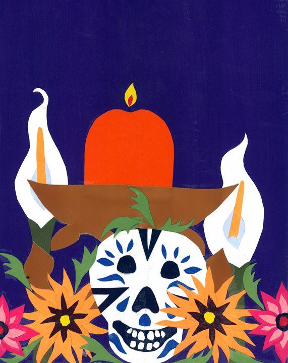 Dia with Calla Lilies - Lavaun Heaster's Art