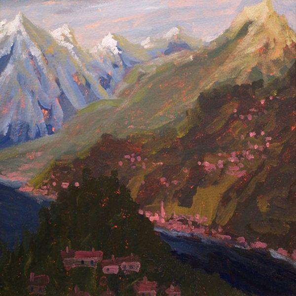 Alps above Bellagio, Lake Como - Gordon Haas