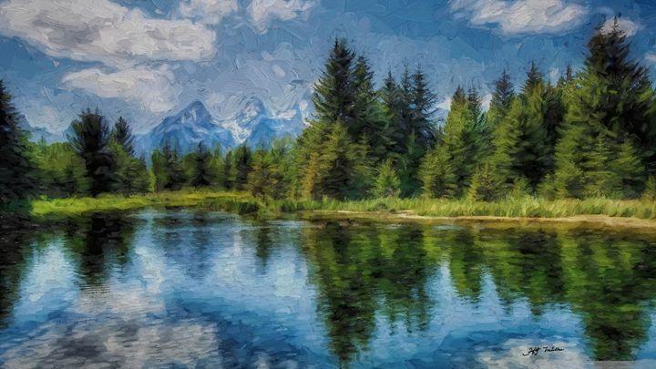 Wyoming Tetons Spruce Mountain Lake - hgmielke