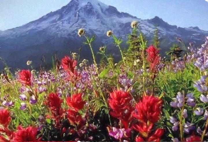 Rocky Mountain Spring flower Scenery - hgmielke
