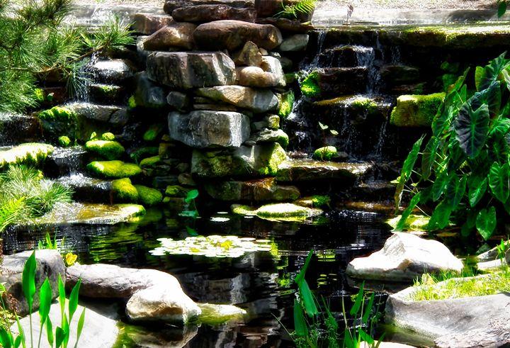 Zen Waterfall - MAE Art Gallery