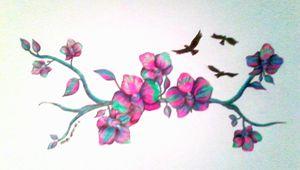 Orchid dreams. - Rachel.Wemyss.Art.