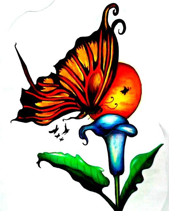 Flying through life. - Rachel.Wemyss.Art.