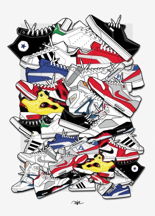 Sneakers Storm - M.A.T.R.A.K.A.D. Design by MizAl Touch