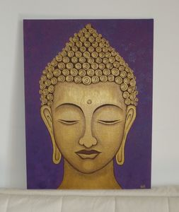 Golden Buddha painting