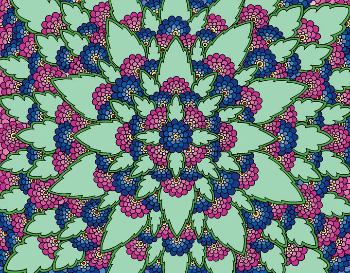 Bloom (Pink and Blue) - Henna by Hilary