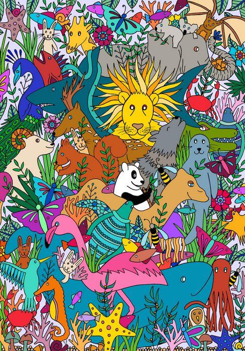 Animal Kingdom - Henna by Hilary