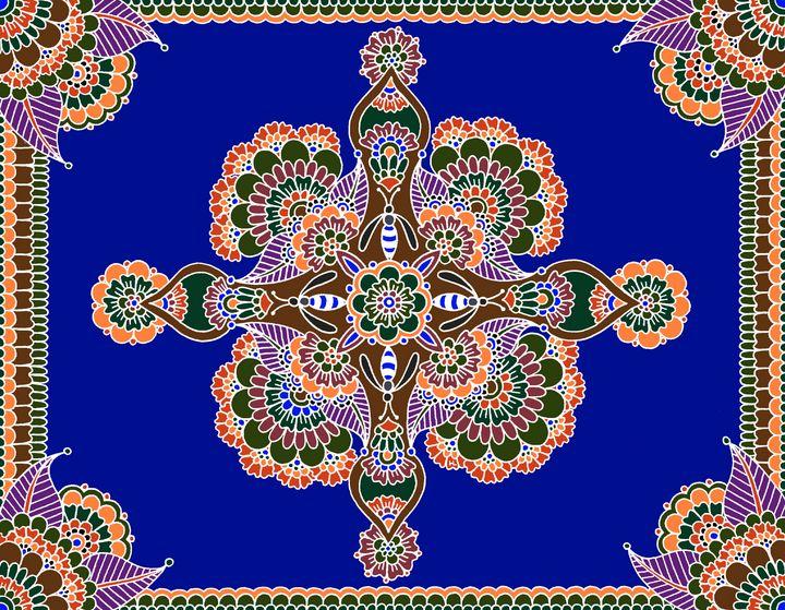 Bee Mandala (Blue) - Henna by Hilary
