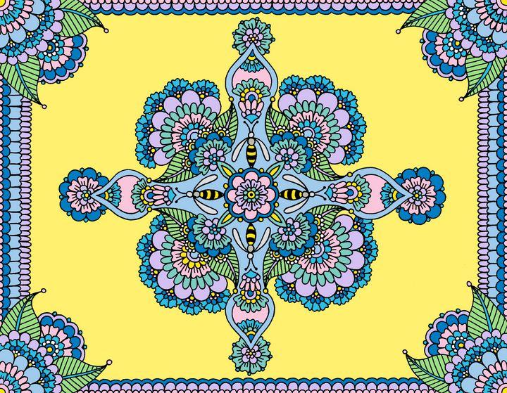 Bee Mandala (Yellow) - Henna by Hilary