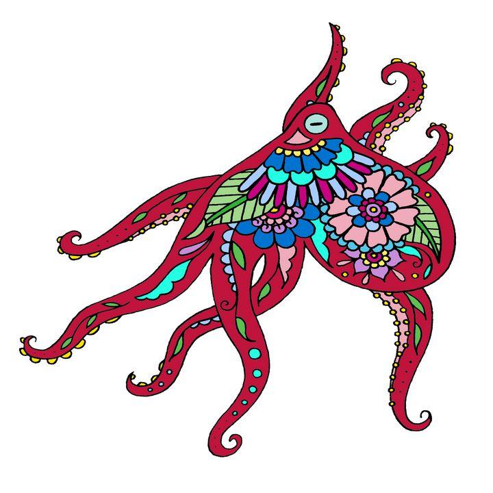Henna Octopus - Henna by Hilary