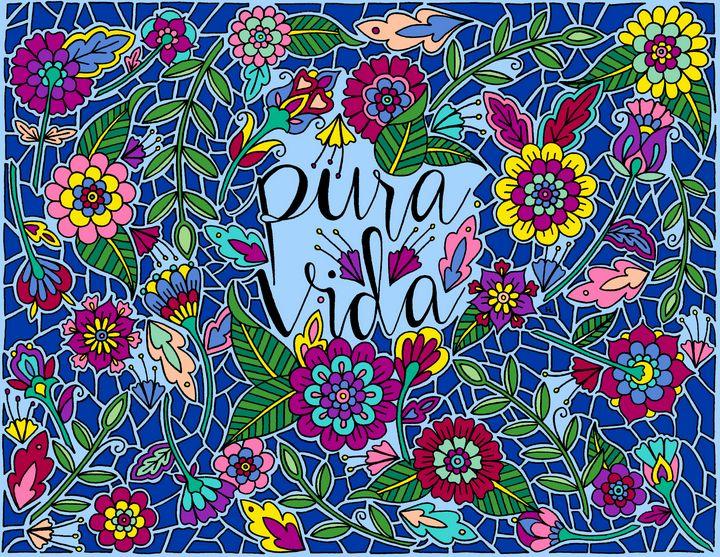 Pura Vida (Pure Life) - Henna by Hilary