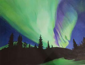 Aurora Borealis-handmade oil