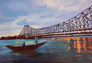 Handmade oil painting- Kolkata