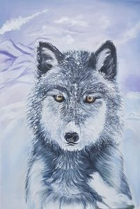 Handmade acrylic-wolf