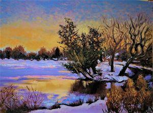 Winter, Sunset
