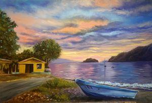 fisherman village/sunset/