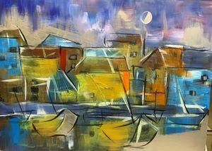 Night at fishing village