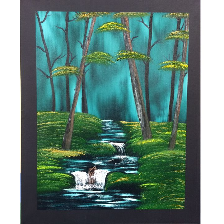 A River through the Wood - Krista's Oil Paintings and Photography