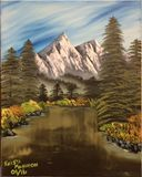 Mountains across the lake