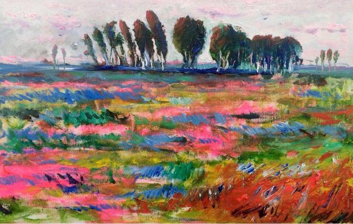 Original landscape oil painting - Ramal Kazim