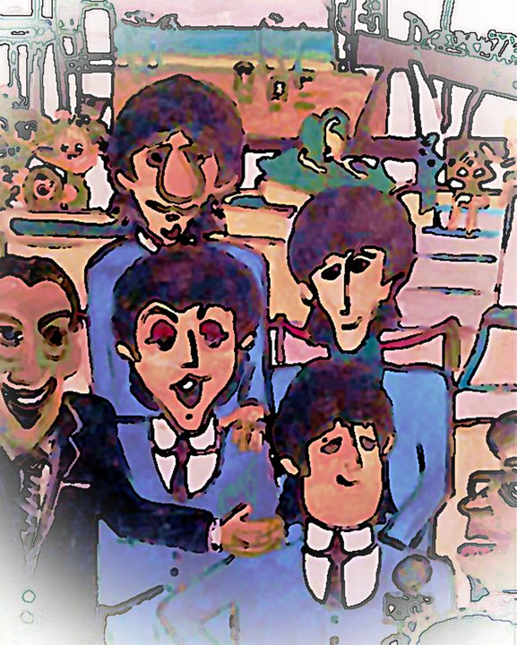 BEATLES AT THE DEAUVILLE * SOLD - Gregory McLaughlin - Artist