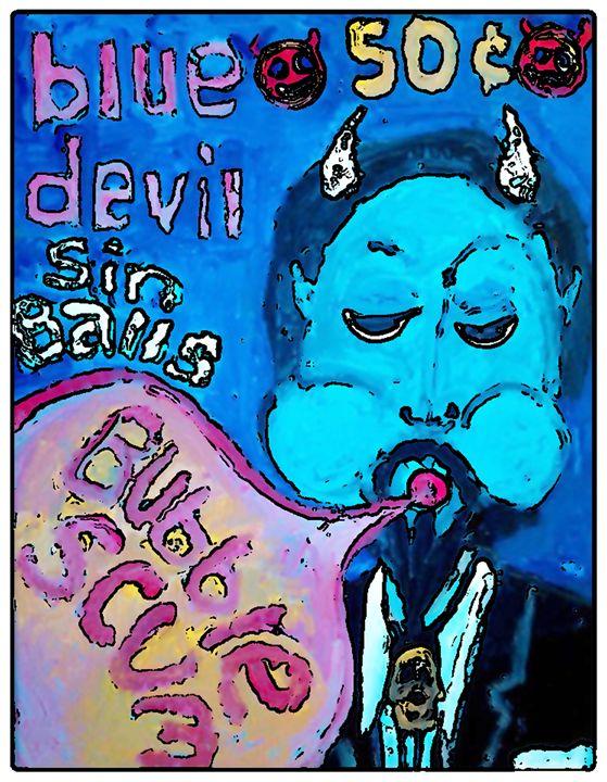 SIN BALLS BLUE DEVIL - Gregory McLaughlin - Artist