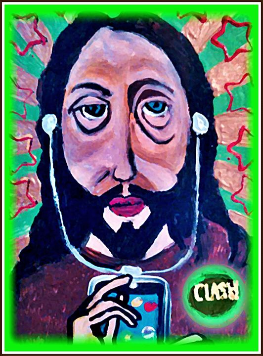 JESUS LISTENING TO JIMMY JAZZ - Gregory McLaughlin - Artist
