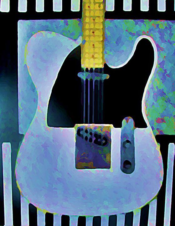 WHITE TELECASTER - SOLD - Gregory McLaughlin - Artist