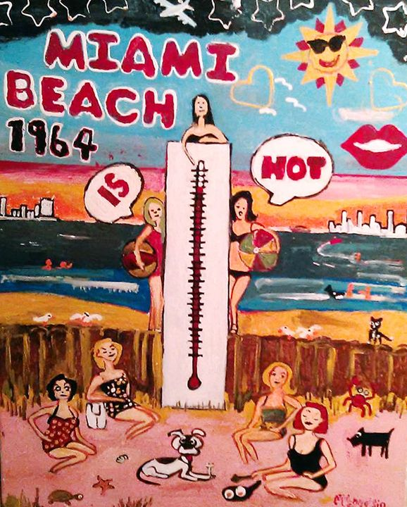MIAMI BEACH BABES - Gregory McLaughlin - Artist