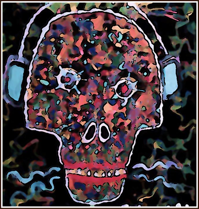 TUNED IN SKULL - Gregory McLaughlin - Artist