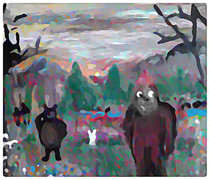 Big Foot and Friends - Gregory McLaughlin - Artist