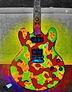 COMBAT GUITAR - SOLD - Gregory McLaughlin - Artist
