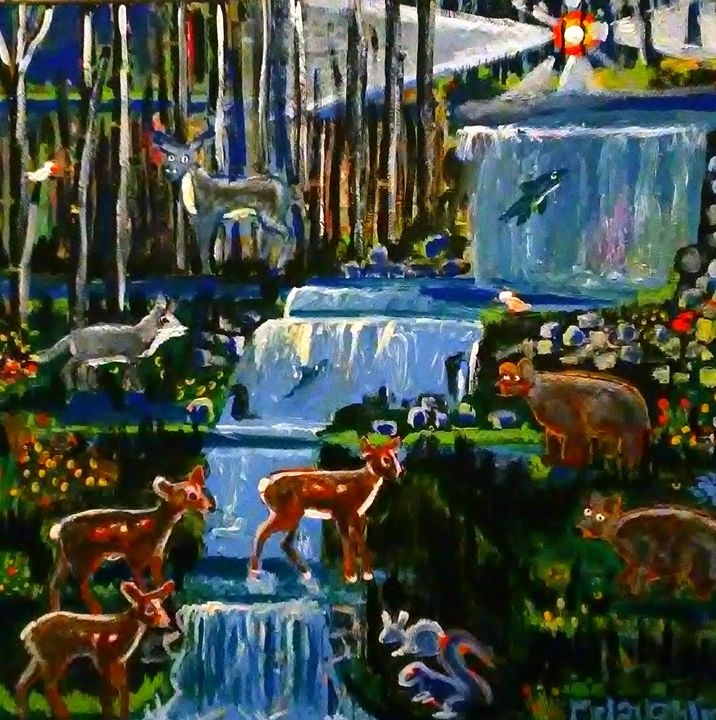 FURBABIES IN THE WOODS - Gregory McLaughlin - Artist