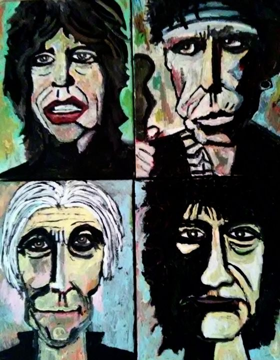 THE STONES 6 canvases - Gregory McLaughlin - Artist