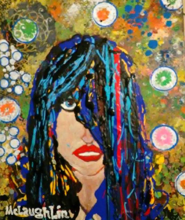 WILD CHILD.  original master paintin - Gregory McLaughlin - Artist